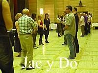 "Dancing ""Jac y Do"" at the Temple of Peace in Cardiff."