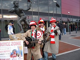 Boycezone at Parc y Scarlets collecting for LATCH.