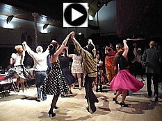 "Click for video - ""Dawns Harlech"" at a birthday barn dance in Cardiff."