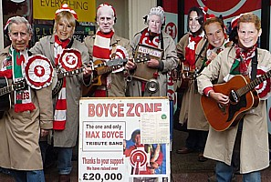 Click for photos of Boycezone in Cardiff before the Wales - Argentina rugby international.