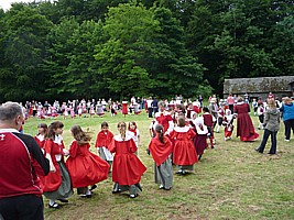 Click for full size picture of Gwyl Plant - Children's Festival of Welsh folk dancing at Saint Fagan's, Cardif 2012