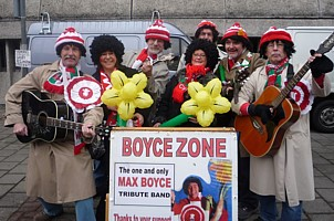 Click for pictures of Boycezone in Cardiff before the Wales - Scotland 6 Nations Rugby international.