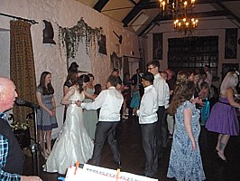 Click for photos of Miskin Manor wedding ceilidhs.