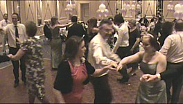 "Click for video of ""Robin Ddiog"", Welsh folk dance at the Angel Hotel, Cardiff."